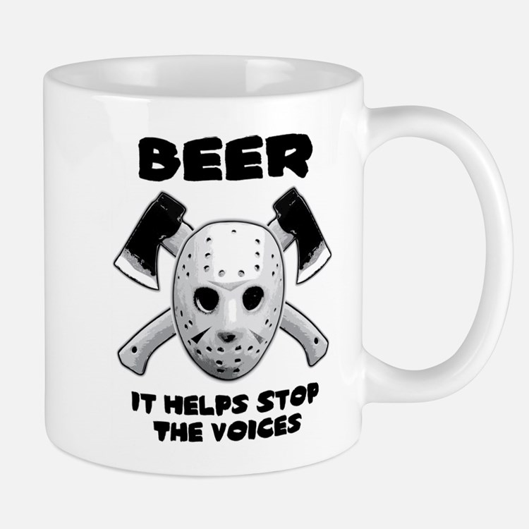 Beer Helps Stop The Voices Mug