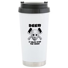 Beer Helps Stop The Voices Travel Mug