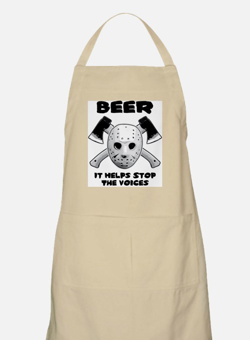 Beer Helps Stop The Voices Apron
