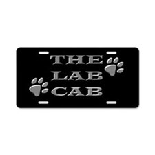 The Lab Cab Aluminum License Plate