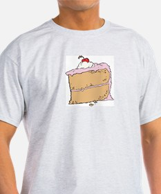 Cake or Death Ash Grey T-Shirt