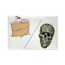 Cake or Death Rectangle Magnet