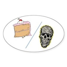 Cake or Death Oval Decal