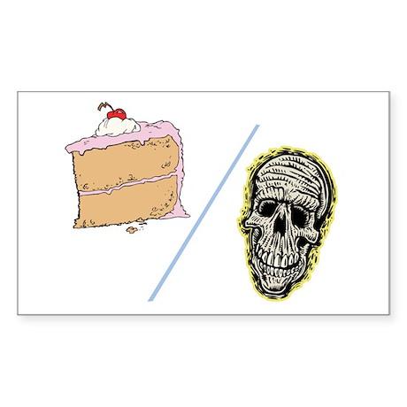 Cake or Death Rectangle Sticker