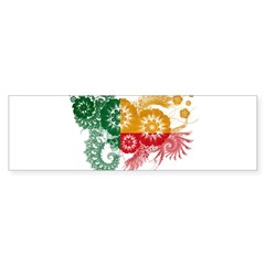 Benin Flag Sticker (Bumper 50 pk)