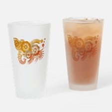 Bhutan Flag Drinking Glass