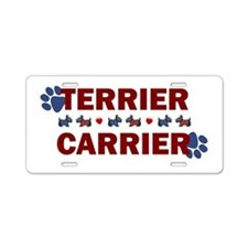 Terrier Carrier Aluminum License Plate