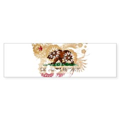 California Flag Bumper Sticker