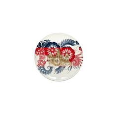 Cambodia Flag Mini Button (10 pack)