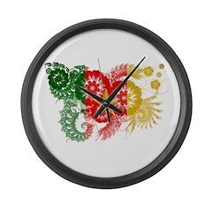 Cameroon Flag Large Wall Clock
