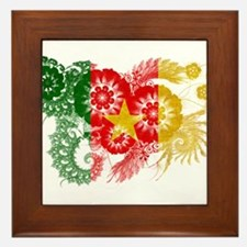 Cameroon Flag Framed Tile