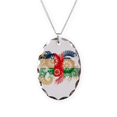 Central African Republic Flag Necklace