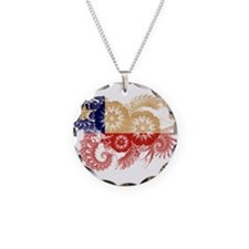 Chile Flag Necklace