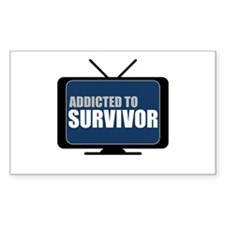 Addicted to Survivor Rectangle Decal