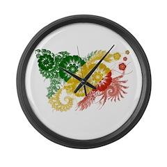 Congo Republic Flag Large Wall Clock