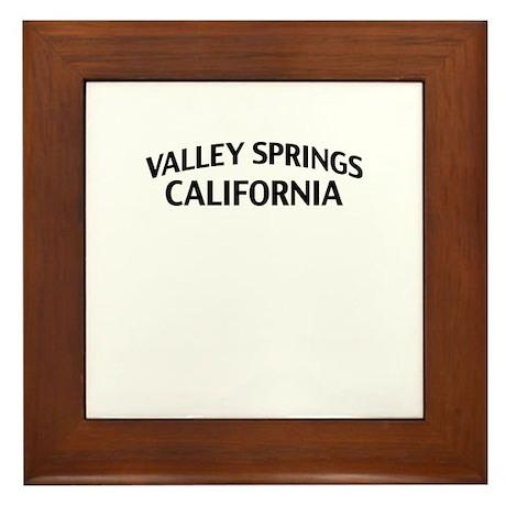 Valley Springs California Framed Tile