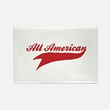 All American Rectangle Magnet