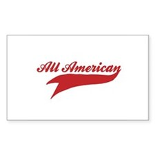 All American Rectangle Decal