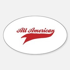 All American Oval Decal