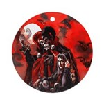 Halloween Girl Ornament (Round)