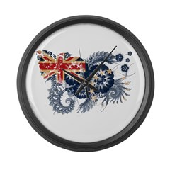 Cook Islands Flag Large Wall Clock