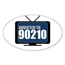 Addicted to 90210 Oval Decal