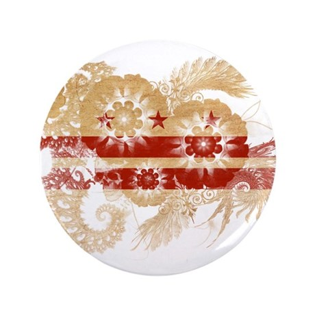 "District of Columbia Flag 3.5"" Button"