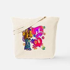 Hippie at Heart Retro 60's Tote Bag