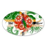 Dominica Flag Sticker (Oval 50 pk)