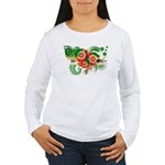 Dominica Flag Women's Long Sleeve T-Shirt