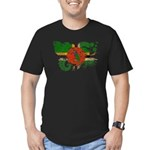 Dominica Flag Men's Fitted T-Shirt (dark)