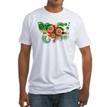 Dominica Flag Fitted T-Shirt