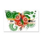 Dominica Flag Car Magnet 20 x 12