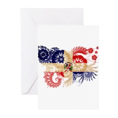 Dominican Republic Flag Greeting Cards (Pk of 20)