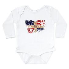 Dominican Republic Flag Long Sleeve Infant Bodysui