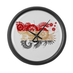 Egypt Flag Large Wall Clock