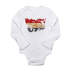 Egypt Flag Long Sleeve Infant Bodysuit