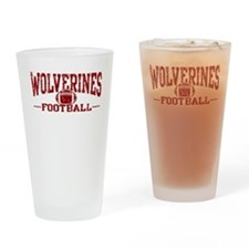 Wolverines Football Drinking Glass