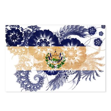 El Salvador Flag Postcards (Package of 8)