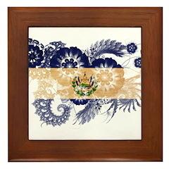 El Salvador Flag Framed Tile