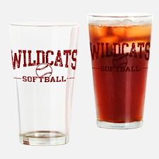 Wildcats Softball Drinking Glass
