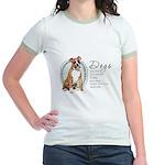 Dogs Make Lives Whole -Boxer Jr. Ringer T-Shirt