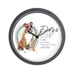 Dogs Make Lives Whole -Boxer Wall Clock