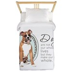 Dogs Make Lives Whole -Boxer Twin Duvet