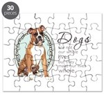 Dogs Make Lives Whole -Boxer Puzzle