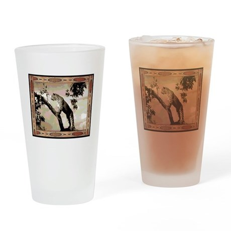 African leopard Drinking Glass