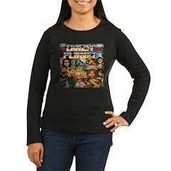 Crazy Planet Women's Long Sleeve Black T-Shirt