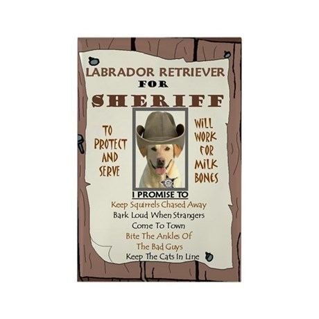 Sheriff -RecMag -Lab,Yellow Magnets