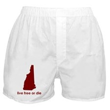 RED Live Free or Die Boxer Shorts
