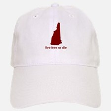 RED Live Free or Die Baseball Baseball Cap